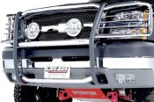 Image may not reflect your exact vehicle! Dee Zee® - Stainless Steel Euro Grille Guard Installed on Chevy Avalanche