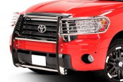 Image may not reflect your exact vehicle! Dee Zee® - Euro Style Polished Grille Guard Installed