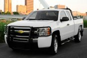 Dee Zee® - UltraBlack Euro Grille Guard Installed on Chevy Silverado