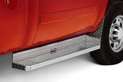 Image may not reflect your exact vehicle! Brite-Tread™ Aluminum Bed Section Running Boards Installed