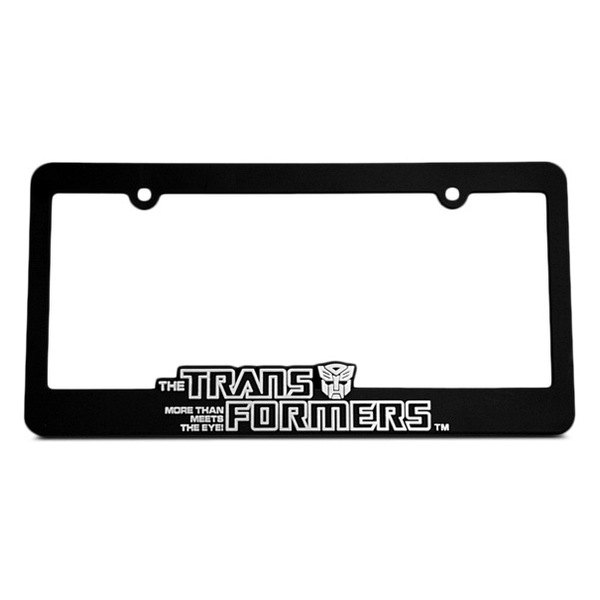 DefenderWorx® - Transformers™ Autobot Logo on Black License Frame