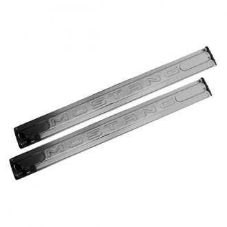 DefenderWorx® - Chrome Door Sills with Mustang Logo