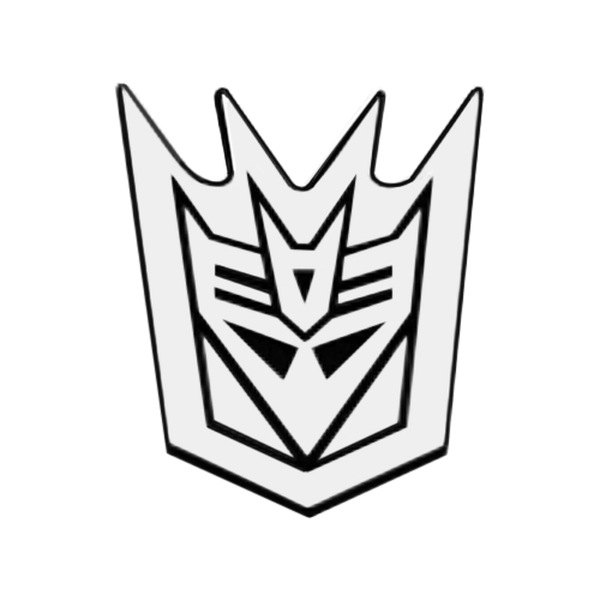 DefenderWorx® - Two Tone Decepticon Outline Emblem