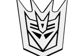 DefenderWorx® - Two Tone Transformers™ Decepticon Outline Emblem