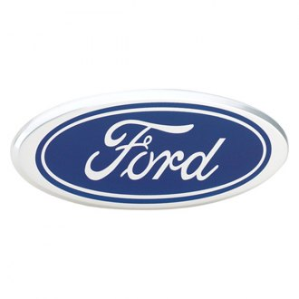 "DefenderWorx® - 9"" Blue Oval Grille / Tailgate Emblem with Ford Logo"