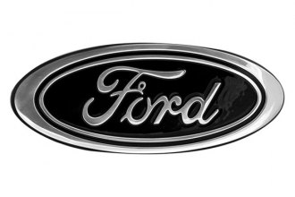 "DefenderWorx® 98403 - 9"" Black Oval Grille / Tailgate Emblem with Ford Logo"