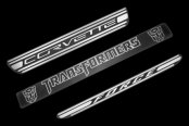 Defenderworx® - Two Tone Door Sills with Corvette Logo
