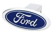 DefenderWorx® - Ford Style Blue Hitch Cover - Image Style