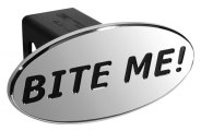 DefenderWorx® - Bite Me Style Black Hitch Cover