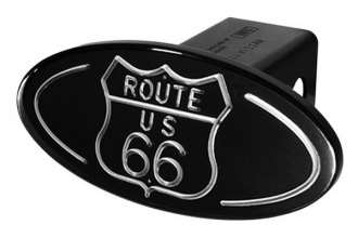 DefenderWorx® - Black Hitch Cover - Route 66 Style