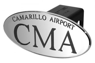 DefenderWorx® - Black Hitch Cover - CMA Camarillo Airport Style