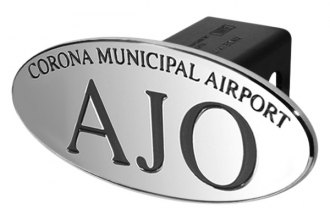DefenderWorx® - Black Hitch Cover - AJO Corona Municipal Airport Style