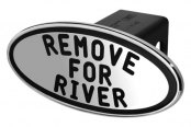 DefenderWorx® - Black Hitch Cover - Remove For River Style