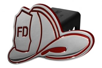 DefenderWorx® - Red Hitch Cover - Fireman's Hat Style