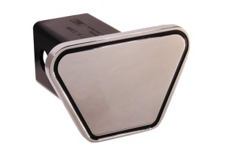 DefenderWorx® - Blank Outline Track Style Black Hitch Cover