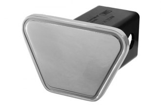 DefenderWorx® - Silver Hitch Cover - Blank Outline Track Style