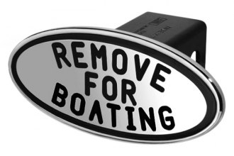 DefenderWorx® - Black Hitch Cover - Remove for Boating Style