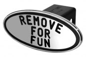 DefenderWorx® - Black Hitch Cover - Remove for Fun Style