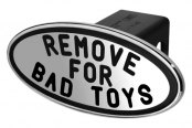 DefenderWorx® - Black Hitch Cover - Remove for Bad Toys Style