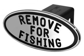 DefenderWorx® - Oval Hitch Cover with Black Remove For Fishing Logo