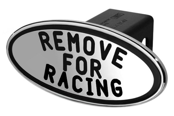 DefenderWorx® - Black Hitch Cover - Remove for Racing Style