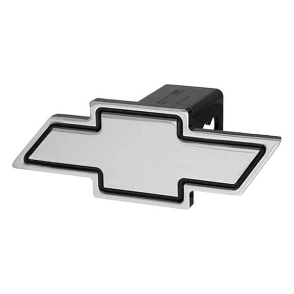 "DefenderWorx® - Chevy Bowtie Black Hitch Cover for 2"" Reciever"