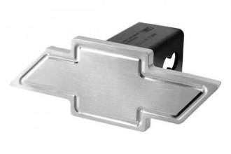 DefenderWorx® - Chevy Style Brushed Hitch Cover with Heavyweight Cutout Bowtie