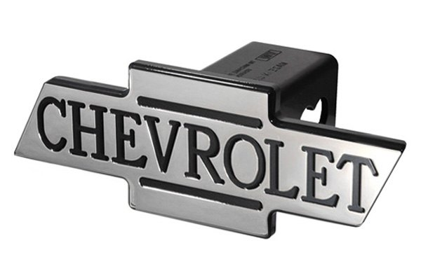 DefenderWorx® - Black Hitch Cover with Inscribed Cutout Bowtie