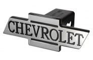 DefenderWorx® - Chevy Style Black Hitch Cover with Inscribed Cutout Bowtie