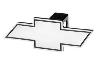 DefenderWorx® - Chevy Style Black Hitch Cover with Cutout Bowtie
