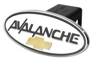 DefenderWorx® - Chevy Avalanche Style Black Hitch Cover with Gold Bowtie