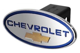 DefenderWorx® - Chevy Style Blue Hitch Cover with Gold Bowtie