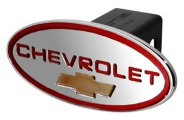 DefenderWorx® - Chevy Style Red Hitch Cover with Gold Bowtie