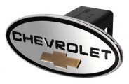 DefenderWorx® - Chevy Style Black Hitch Cover with Gold Bowtie