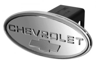 DefenderWorx® - Chevy Style Silver Hitch Cover with Silver Bowtie