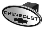 DefenderWorx� - Chevy Style Black Hitch Cover with Black Bowtie