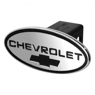"DefenderWorx® - Oval Hitch Cover with Chevrolet Logo and Bowtie for 2"" Receiver"