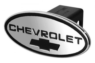 DefenderWorx® - Chevy Style Black Hitch Cover with Black Bowtie