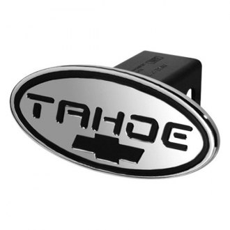 DefenderWorx® - Oval Hitch Cover with Tahoe Logo and Chevy Bowtie