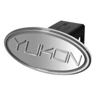 "DefenderWorx® - Oval Hitch Cover with Silver Yukon Logo for 2"" Receivers"