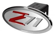 "DefenderWorx® - 2"" Chevy Silverado Style Red / Silver Hitch Cover - Z71 Style"