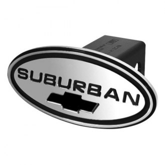 DefenderWorx® - Oval Hitch Cover with Suburban Logo and Chevy Bowtie