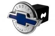 DefenderWorx® - Chevy Style Blue Hitch Cover - Genuine 3D Style