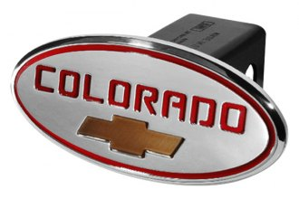 DefenderWorx® - 2 Chevy Colorado Style Red Hitch Cover with Gold Bowtie