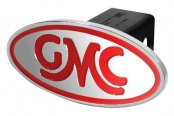 DefenderWorx® - Red Hitch Cover - Inscribed GMC Classic Style