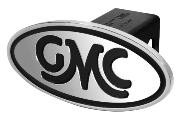 DefenderWorx® - Black Hitch Cover - Inscribed GMC Classic Style
