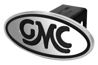 DefenderWorx® - GMC Style Black Hitch Cover - Inscribed GMC Classic Style