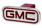 DefenderWorx® - Red Hitch Cover - Inscribed GMC Style