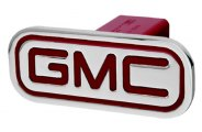 DefenderWorx® - GMC Style Red Hitch Cover - Inscribed GMC Style