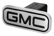 DefenderWorx® - Black Hitch Cover - Inscribed GMC Style